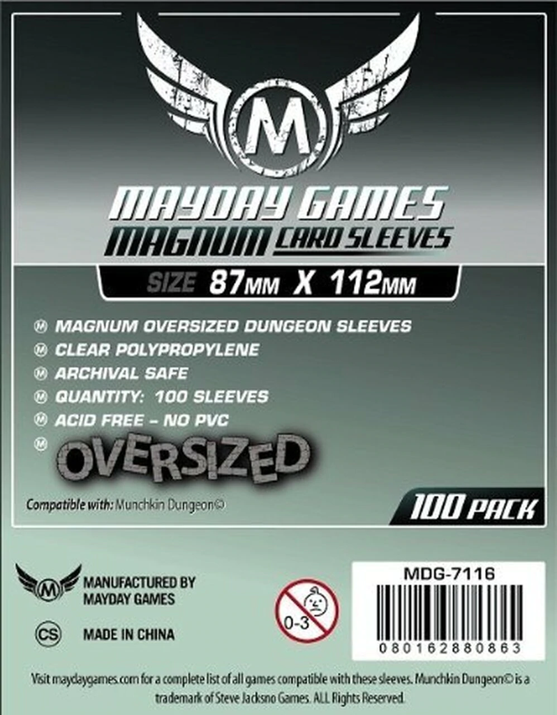 Mayday Magnum Dungeon Card Sleeves - 87mm X 112mm (100ct)