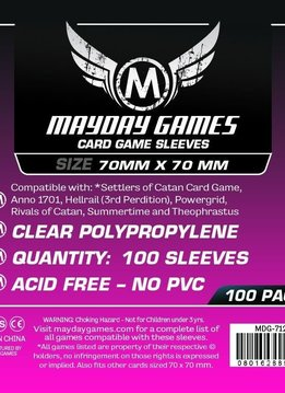 Mayday Square Card Sleeves -70mm X 70mm (100ct)