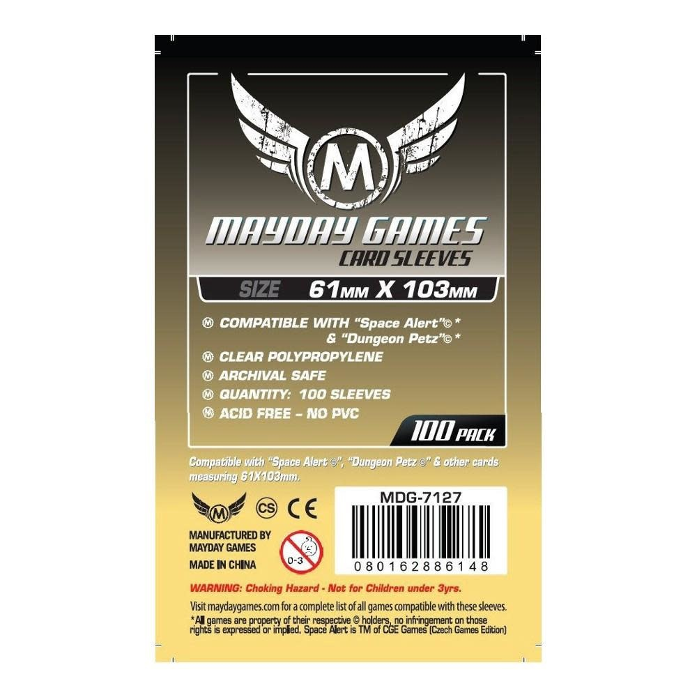 Mayday Space Alert & Dungeon Petz Card Sleeves - 61mm X 103mm (100ct)