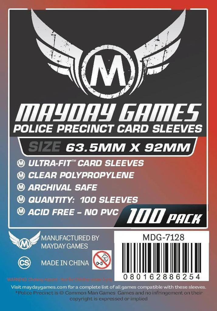 Mayday Police Precinct Card Sleeves - 63.5mm X 92 mm (100ct)
