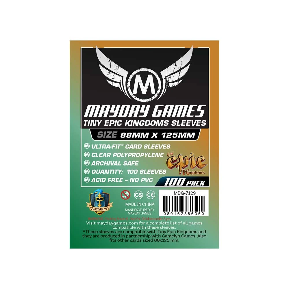 Mayday Tiny Epic Kingdoms Card Sleeves - 88mm X 125mm (100ct)