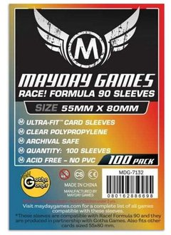 Mayday Race! Formula 90 Card Sleeves - 55mm X 80mm (100ct)