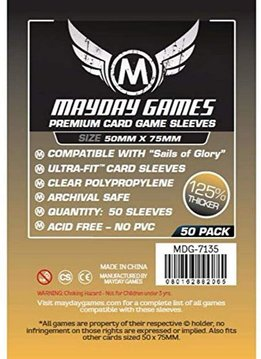 Mayday Premium Sails of Glory Card Sleeves - 50mm X 75mm (50ct)