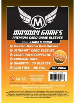 Mayday Premium Yucatan Narrow Card Sleeves - 54mm X 80mm (50ct)
