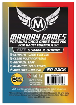 Mayday Premium Race! Formula 90 Card Sleeves - 55mm X 80mm (50ct)