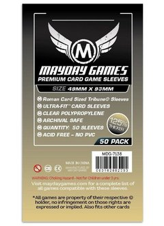 Mayday Premium Tribune Card Sleeves - 49mm X 93mm (50ct)