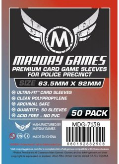 Mayday Premium Police Precinct Sleeves - 63.5mm X 92mm (50ct)