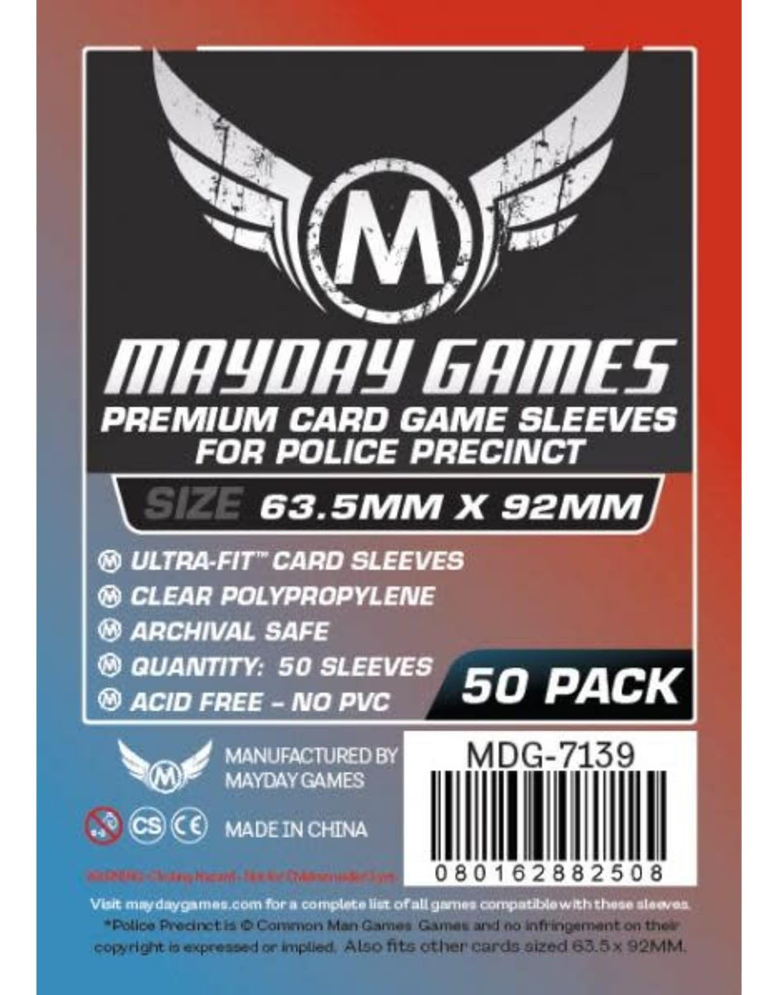 Mayday Premium Police Precinct Sleeves - 63.5mm X 92mm (50ct)