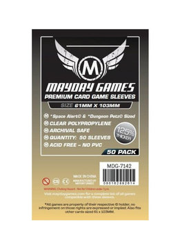 Mayday Premium Space Alert & Dungeon Petz Sleeves - 61mm X 103mm (50ct)