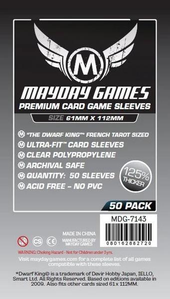 Mayday Premium Magnum Platinum Sleeves - 61mm X 112mm (50ct)