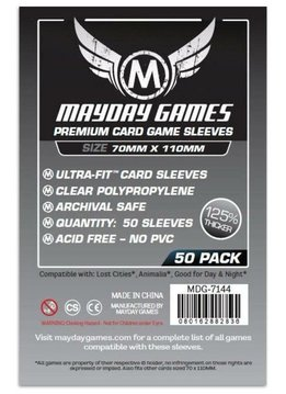 Mayday Premium Lost Cities Sleeves - 70mm X 110mm (50ct)