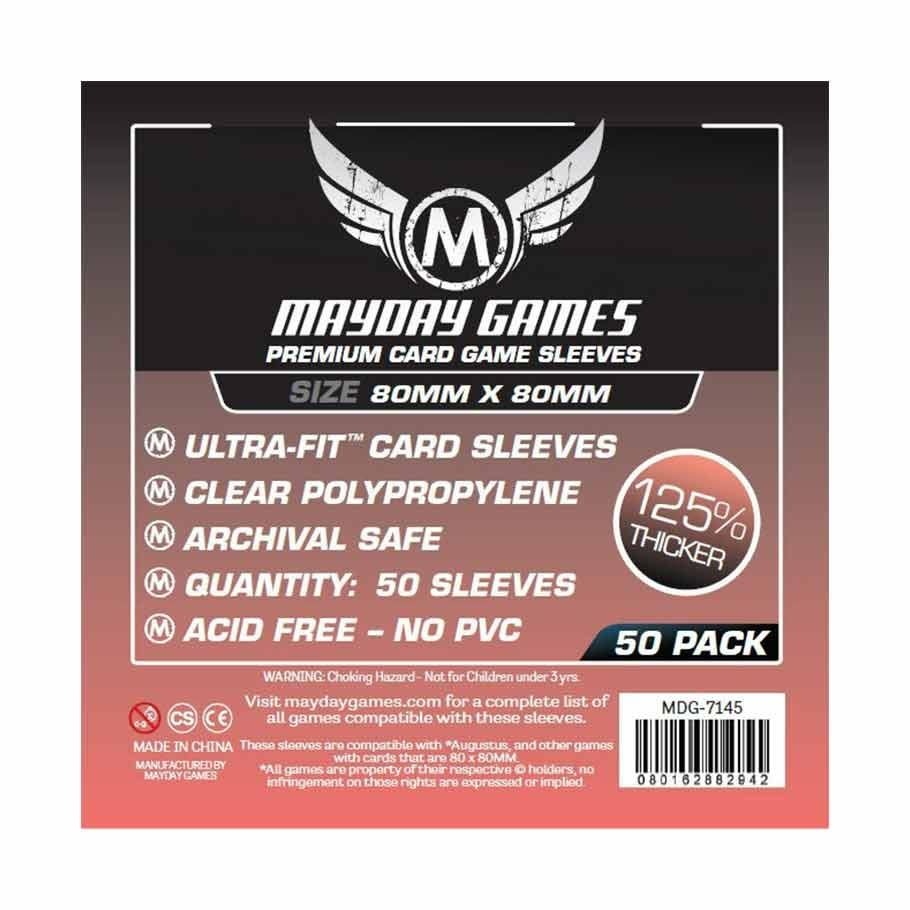 Mayday Premium Square Sleeves - 80mm X 80mm (50ct)