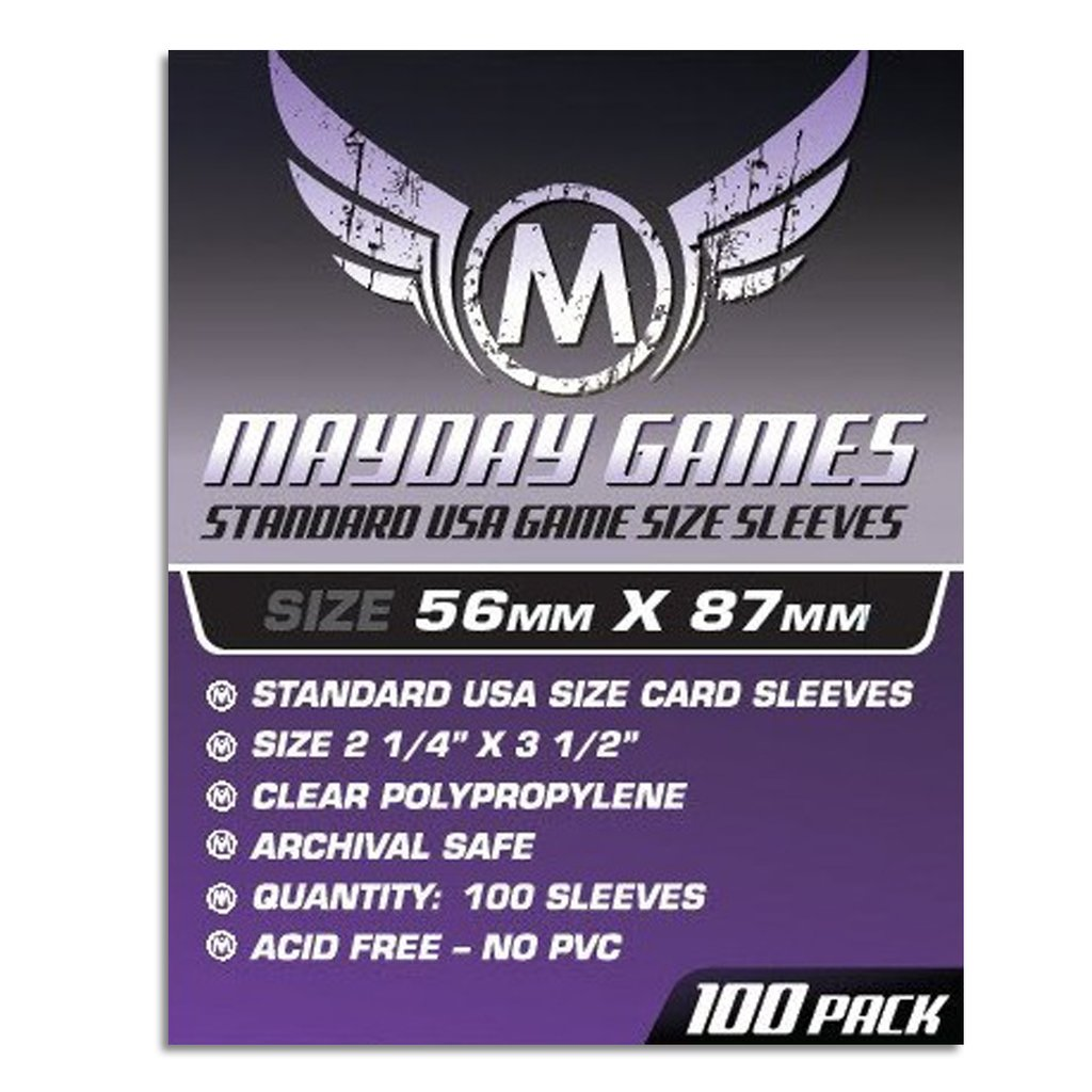 Mayday USA Card Sleeves - 56mm X 87mm (100ct)