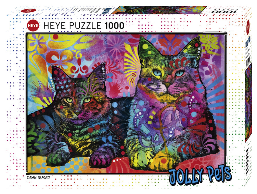 Puzzle: Devoted 2 Cats - Jolly Pets, Russo (1000 pc)
