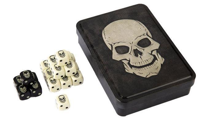 Skull Dice Set 20d6 Tin