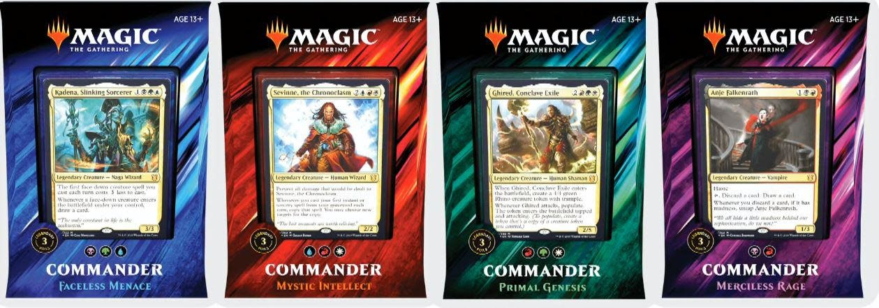 Commander 2019 (Set of 4)