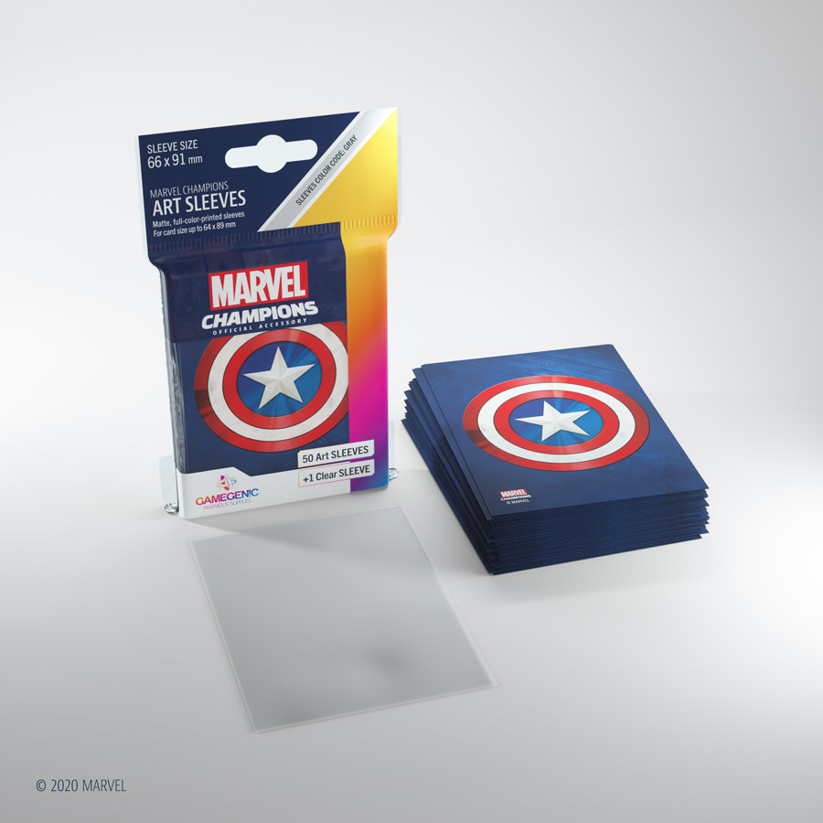 Captain America - Marvel Champion Art Sleeves (50+1)