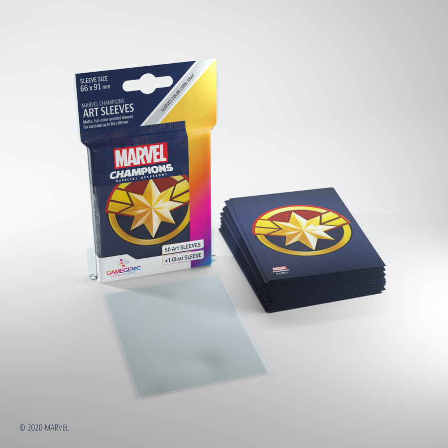 Captain Marvel - Marvel Champion Art Sleeves (50+1)