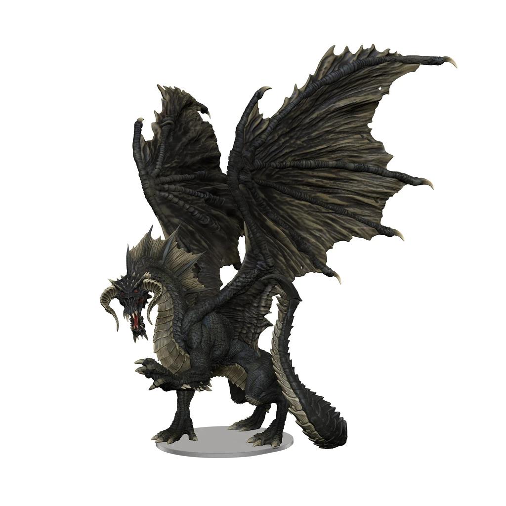 D&D Icons: Adult Black Dragon Premium Miniatures