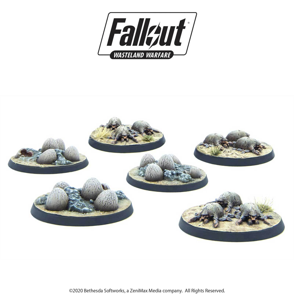 Fallout: Wasteland Warfare - Creatures: Mirelurk Hatchlings / Eggs