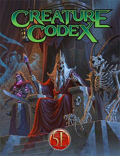 Creature Codex for 5th Edition (HC)
