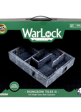 WarLock Tiles: Dungeon Tiles II - Full Height Stone Walls (No Floor Tiles)