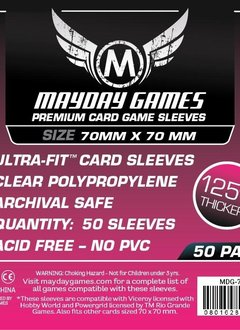 Mayday Premium Square Card Sleeves -70mm X 70mm (50ct)