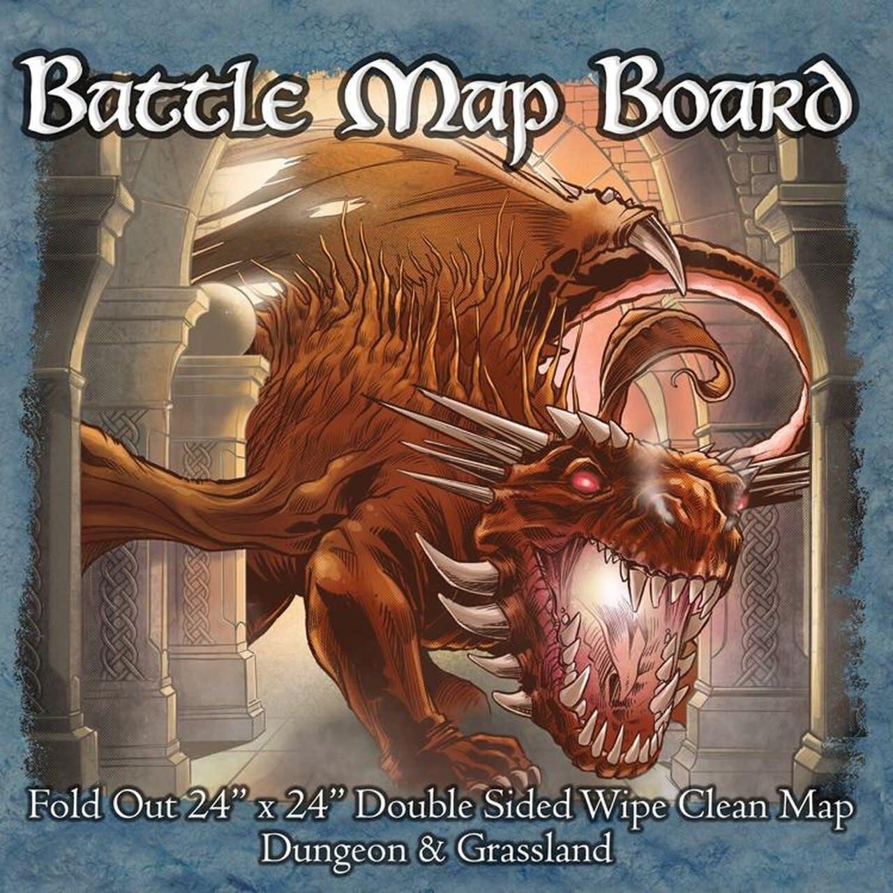 Battle Mat Board: Dungeon and Grassland