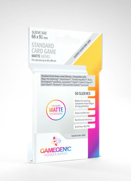 Gamegenic MATTE Sleeves: Standard Card Game (50)