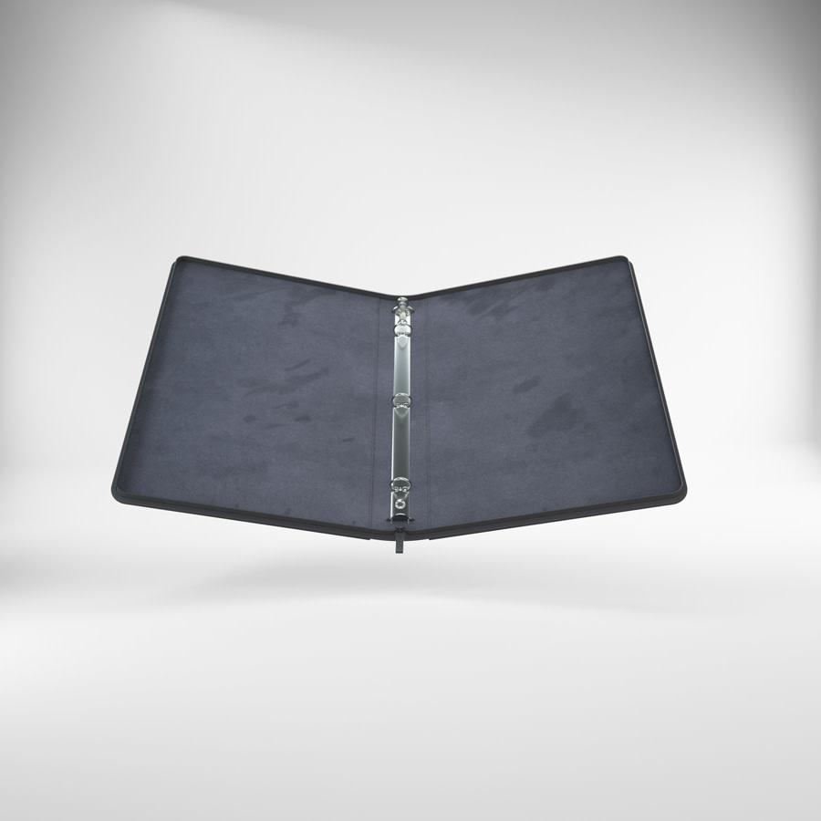 Zip-Up Ring Binder: Black Slim