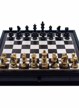 Chess Set Black Standard w/Storage, 19pcs