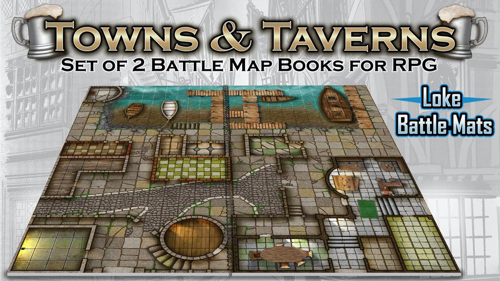 Book of Battle Mats: Towns and Taverns