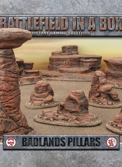Battlefield in a Box: Badlands Pillars - Mars (x5) 30mm