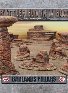 Battlefield in a Box: Badlands Pillars - Mars (x5) 30mm