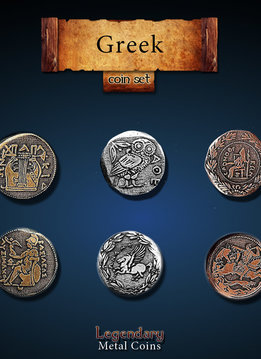 Legendary Metal Coins: Greek (24pcs)