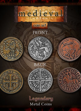 Legendary Metal Coins: Medieval (24pcs)
