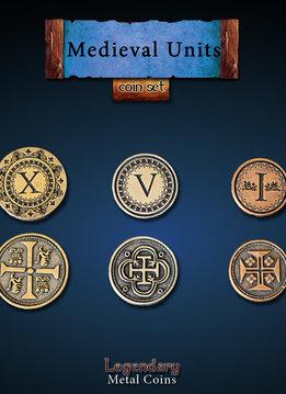 Legendary Metal Coins: Medieval Units (30pcs)