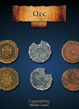 Legendary Metal Coins: Orc (24pcs)