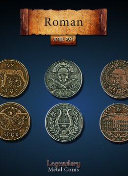 Legendary Metal Coins: Roman (24pcs)