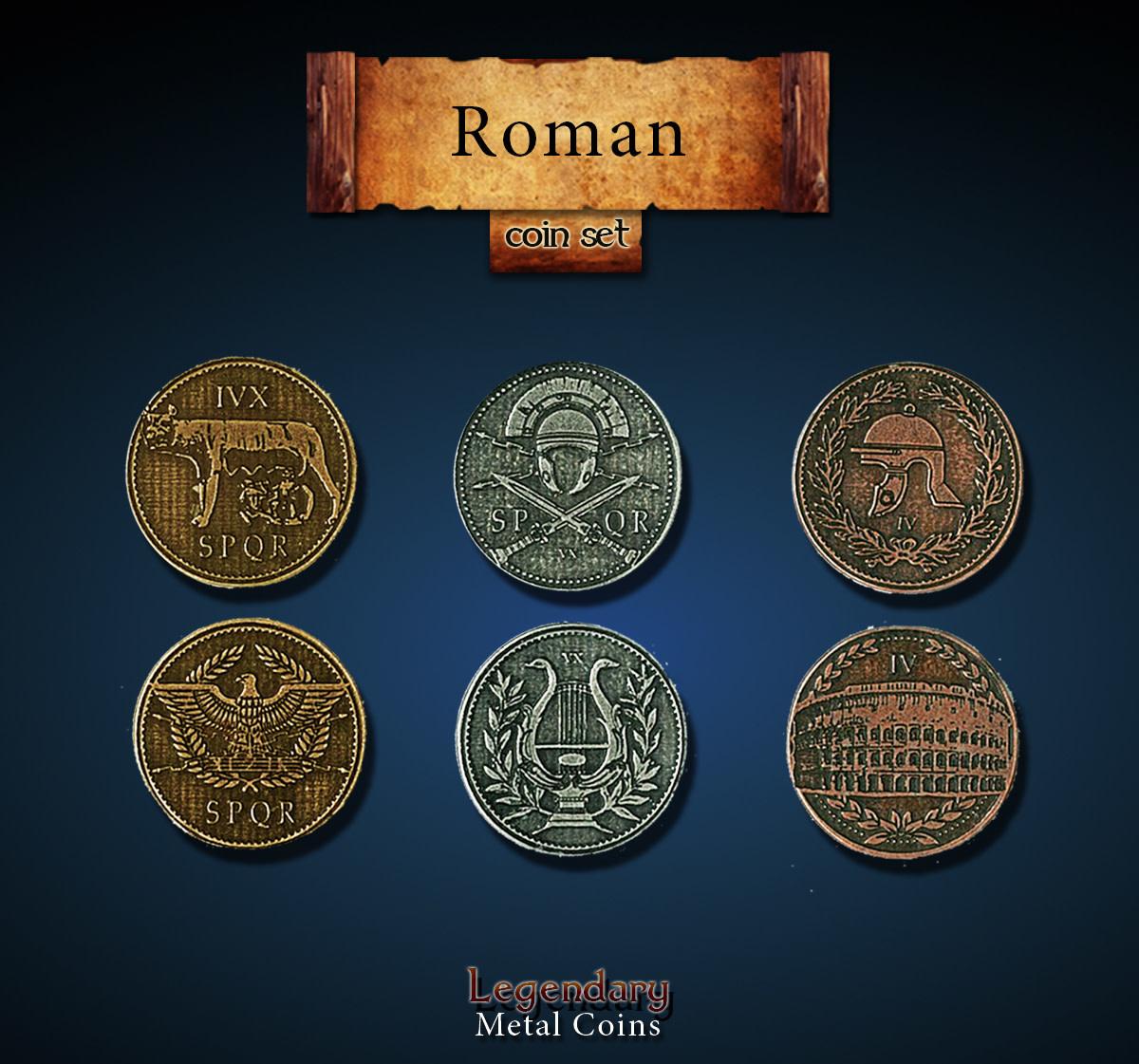Legendary Metal Coins: Roman (24pcs)