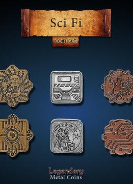 Legendary Metal Coins: Sci-Fi (24pcs)