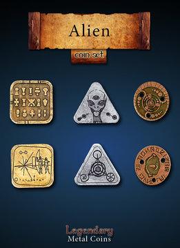 Legendary Metal Coins: Alien (24pcs)