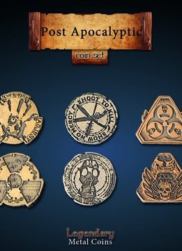 Legendary Metal Coins: Post Apocalyptic (24pcs)
