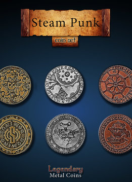 Legendary Metal Coins: Steampunk (24pcs)