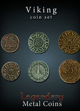 Legendary Metal Coins: Viking (24pcs)