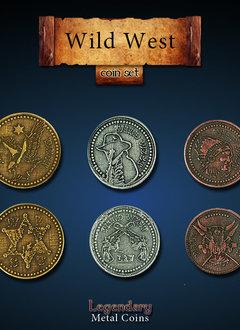 Legendary Metal Coins: Wild West (24pcs)