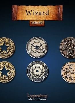 Legendary Metal Coins: Wizard (24pcs)