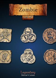 Legendary Metal Coins: Zombie (24pcs)