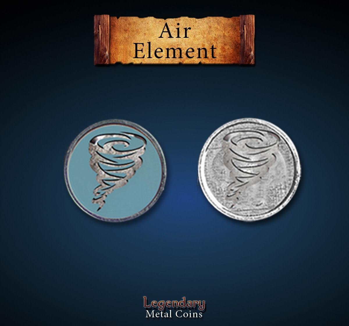 Legendary Metal Coins:  Air Element (12pcs)