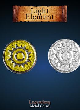 Legendary Metal Coins: Light Element (12pcs)